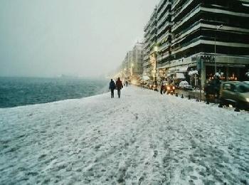 Зима в Салониках