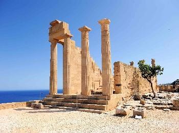 Акрополь в Линдосе на острове Родос, Греция