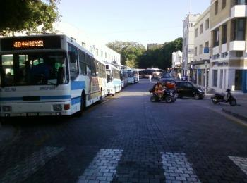 Автобусная станция Фалираки на Родосе (Греция)