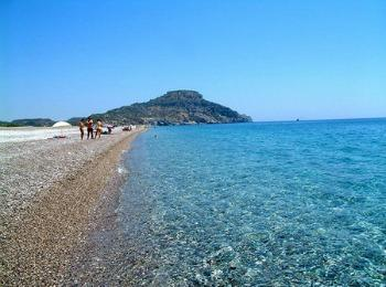 Пляж Афанду, курорт Фалираки, Родос (Греция)