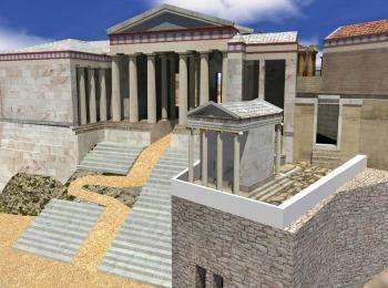 Пропелеи и храм Ники Аптерос на горе Акрополь