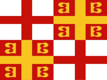 Византийский флаг времен императора Константина