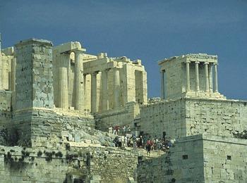 Храм Ники Аптерос на горе Акрополь, Афины, Греция