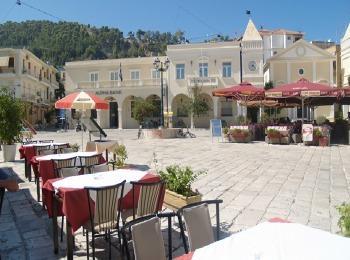 Площадь святого Марка в городе Закинфе, остров Закинф, Греция