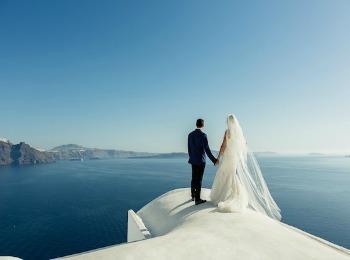 Свадьба на Санторини, Греция