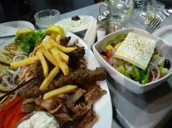 Блюда в греческой таверне