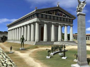 Храм Зевса в Олимпии в Греции