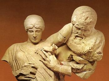 Музей Олимпии, скульптуры храма Зевса Олимпийского