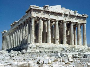 Парфенон на горе Акрополь, Греция
