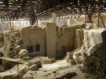 Раскопки в деревушке Акроти, Санторини, Греция