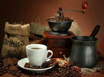 Кофе, турка, кофемолка