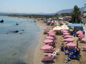 Пляж поселка Георгиоуполис, Крит, Греция