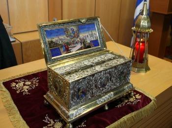 Пояс Пресвятой Богородицы,хранящийся в Ватопедском монастыре