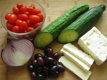 Классический рецепт греческого салата: ингредиенты