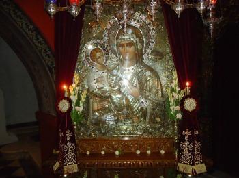 Икона Богородицы «Троеручица» Хиландарский монастырь, Святой Афон