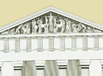 Фронтоны храма Зевса в Олимпии (Древняя Греция)