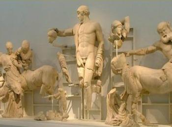 Музей Олимпии, скульптуры из Храма Зевса Олимпийского (Греция)