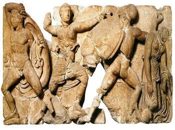 Фризы Храма Аполлона в Бассах, Пелопоннес