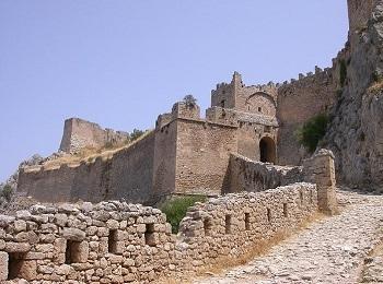 Крепость Акрокорниф в Коринфе, Пелопоннес, Греция