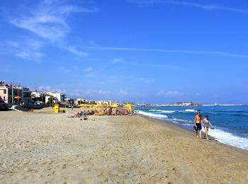 Пляж курорта Ретимно, Крит, Греция