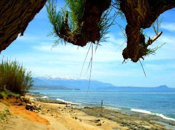 Вид пляжа Пиянос Камбос, Ретимно, Греция