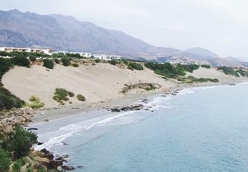 Песчаные дюны пляж Орти Аммос