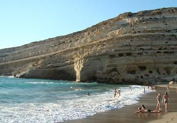 Искуственные пещеры в скале