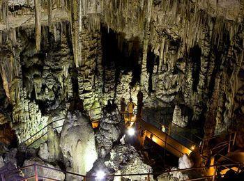 Диктейская пещера на склонах горного хребта