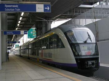 Из аэропорта Афин идет прямой поезд