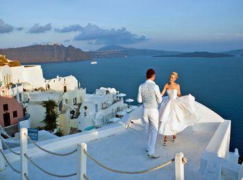 Бракосочетание на острове Санторини