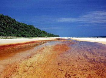 Красота цветных пляжей