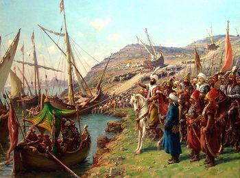 Турецкий флот грабил греческие поселения
