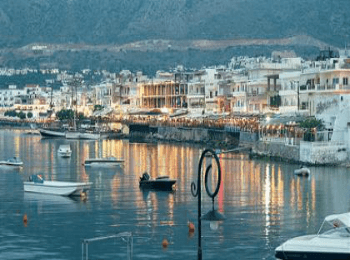Херсониссос на Крите - панорамный вид бухты города-курорта