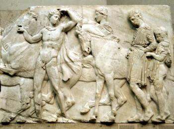 Фризы Парфенона - главного античного храма Афин