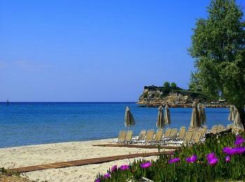 Пляж кэмпинга Блю Дрим в Халкидиках Грецияв
