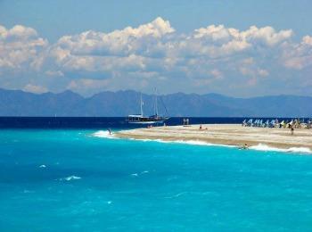 Пляж Псаропула на острове Родос