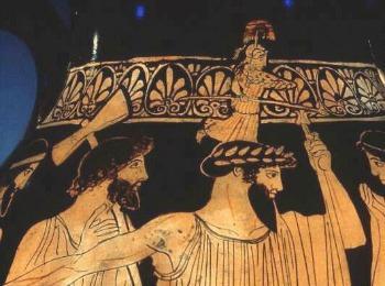 Рождение Афины - изображение рна греческой амфоре