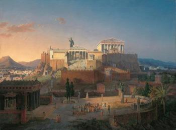 Так выглядел Парфенон на акропольском холме в древности