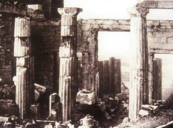 Так выглядел Парфенон в 1839 году