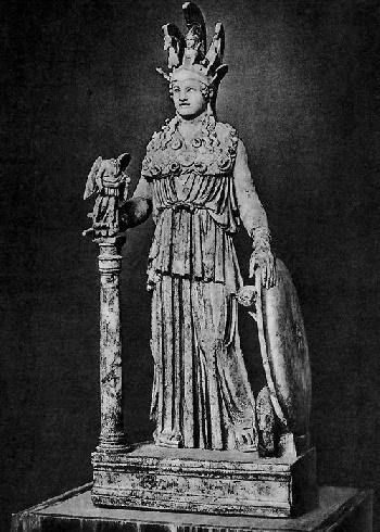 Копия статуи Афины Парфенос