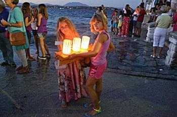 Детские кораблики острова Спеце