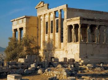 Кариатиды храма Эйрехтенон, Акрополь, Греция
