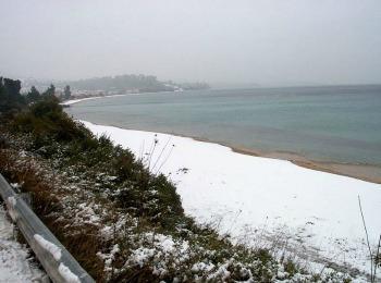 Зима в Халкидиках, Греция