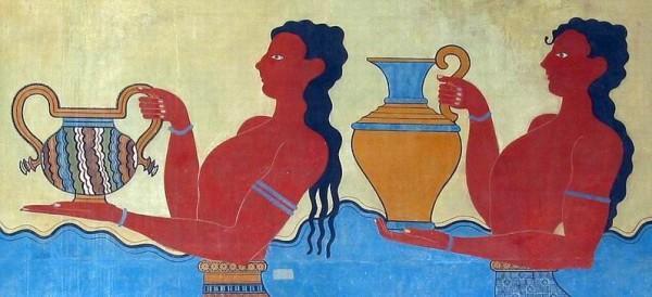 Фрагмент дворцовой фрески