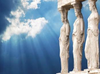 Кариатиды храма Эрехтейон в Афинах, Греция