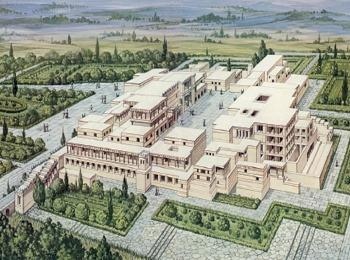 План Кносского дворца на Крите, Греция
