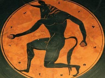 МИнотавр, фреска, Крит, Греция