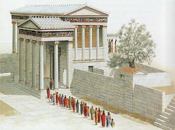 План античного храма Эйрехтенон, Акрополь, Афины