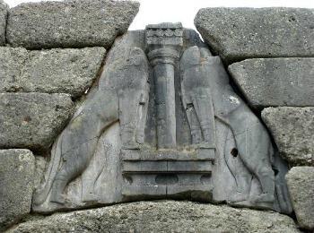 Львиные ворота в Микенах, Греция