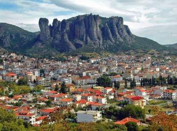 Город Каламбака (подножие Метеор), Греция